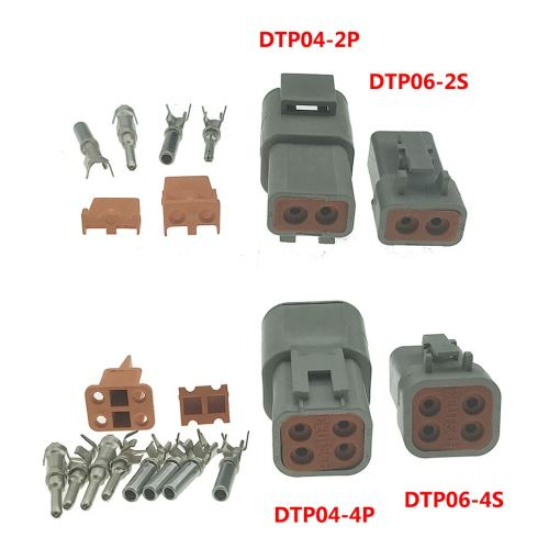 1SET Deutsch DTP06-4S DTP04-4P/ DTP06-2S DTP04-2P Connectors with Terminals for Heavy Duty Truck