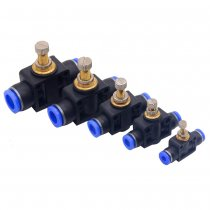 1PCS LSA Throttle valve PA SA 4-12mm Air Flow Speed Control Valve Tube Water Hose Pneumatic Push In Fittings  T-Type