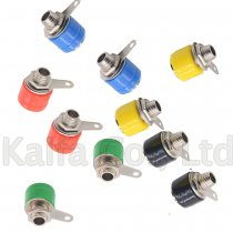 5/10pcs/lot 4mm Banana Binding Post 4mm Banana Socket Plug Adapter DIY Red Green Yellow Black Blue