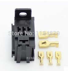 5 pcs AP violet automobile relay socket without wire contain terminal high current with fixed back