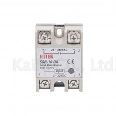 Industrial   Solid State Relay SSR 10A with Protective Flag SSR-10DA 10A DC control AC