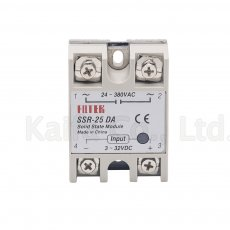 5pcs 25A SSR,input 5-24V DC output 24-380V AC single phase ssr solid state relay SSR-25DA