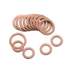 10/20PCS Solid Copper Washer Flat Ring Gasket Sump Plug Oil Seal Fittings 10*14*1MM Fastener Hardware Accessories 10x14x1MM