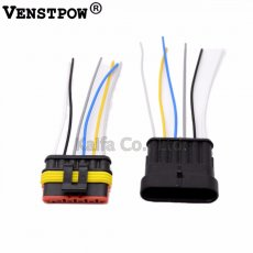 5 Sets 6 Pin Car Waterproof Electrical Connector Plug with  Electrical Wire Cable Car auto truck wire harness