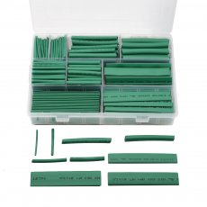385pcs/box Green 9 size 2:1 Heat Shrink Tube Shrinkable Sleeve Heatshrink Tubing Insulation Wire Cable