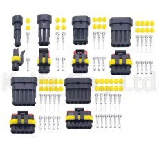 10 sets Kit 1P 2P 3P 4P 5P 6Pin Way AMP 1.5 Connectors male and female Plug, Automotive waterproof connectors Xenon lamp