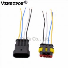 1 Sets 4 Pin Car Waterproof Electrical Connector Plug with  Electrical Wire Cable Car auto truck wire harness