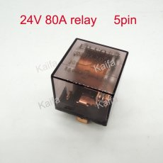 5pcs 24v 80A 5pin transparent car relay high power relay refires relay Air conditioning horn relay auto lighting controller
