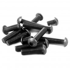 50pcs/Lot Carbon Steel Round Head Mushroom Cap Hex Socket Screws Bolts M2 M3 M4 M5 M6 M8