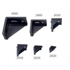 1PC 2020 Corner Bracket Fitting Black Angle Aluminum Connector 2028 3030 3060 4040 4080 for Industrial Aluminum Profile