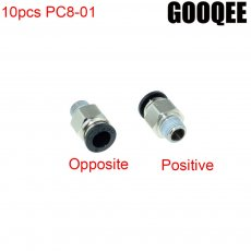 10PCS/lots PC8-01 1/8  BSPT Male Thread To 8mm OD Tube Push In Joint Pneumatic Connector Quick Fittings