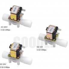 1/2  Plastic Solenoid Valve 12V 24V 220V Magnetic Washing Machine Dispenser Drinking Water Pneumatic Pressure Controller Switch