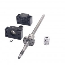 SFU1204 set:SFU1204 L-700mm rolled ball screw C7 with end machined + 1204 ball nut + BK/BF10 end support + coupler for CNC parts