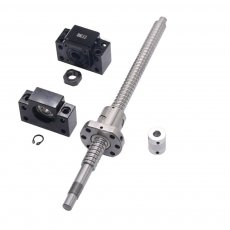 SFU1605 set:SFU1605 L200mm rolled ball screw C7 with end machined + 1605 ball nut + BK/BF12 end support + coupler for CNC parts