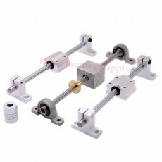 HOT sale 3D Printer guide rail sets T8 Lead screw  length 100mm + linear shaft 8*100mm + KP08 SK8 SC8UU+  nut housing +coupling