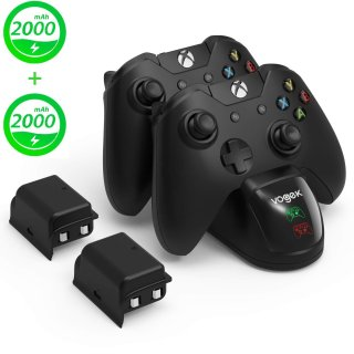 Vogek Xbox Charging Dock with 2 × 2000mAh Rechargeable Battery