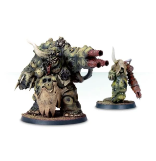 NURGLE DAEMON PRINCE AND HERALD