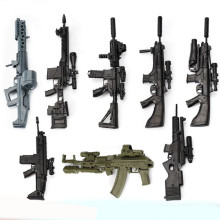 8pcs/set 1:6 Gun Model Second Generation Assembling Firearms MG62 Machine Gun AK74 Rifle HK416 Submachine Classic Assemble Toy