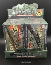 6Pcs/set 1:6 4D Assembly Rifle Gun Model 1/6 98K RPG SVT-40 M200 38 Rifle 12 inches Action Figure Weapon Toy