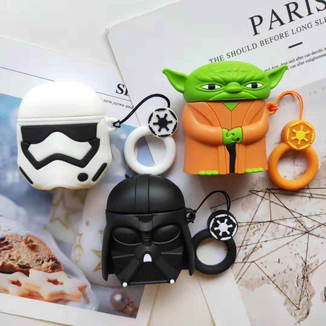 Silicone Airpods Holder Protector With Hook Hanging Super Hero