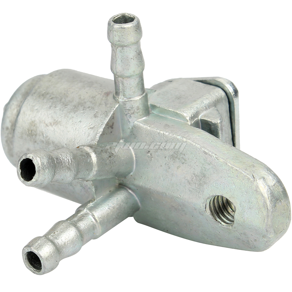 Solid 3 Way Petcock Fuel Tank Shut Off Valve for ATV Motorcycle Dirt Bike
