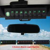 8 Switch Control System for Jeep Wrangler JK Green Backlight