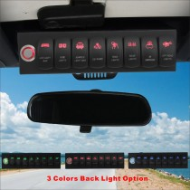 8 Switch Control System for Jeep Wrangler JK  Red Backlight