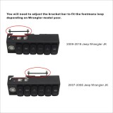 6 Switch Control System for Jeep Wrangler JK 07-18 Red Backlight