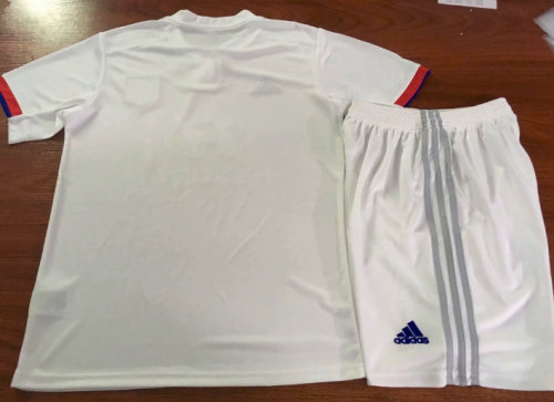 Olympique Lyonnais 19/20 Home Soccer Jersey and Short Kit