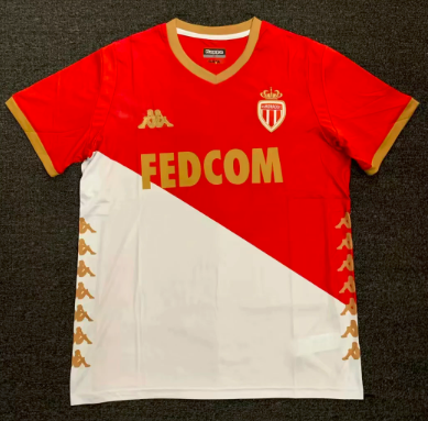 Thai Version AS Monaco 19/20 Home Soccer Jersey