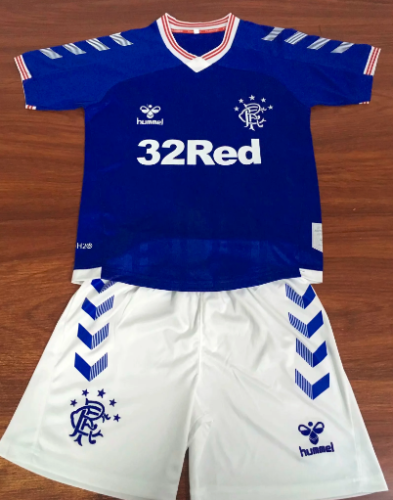 Rangers 19/20 Kids Home Soccer Jersey and Short Kit