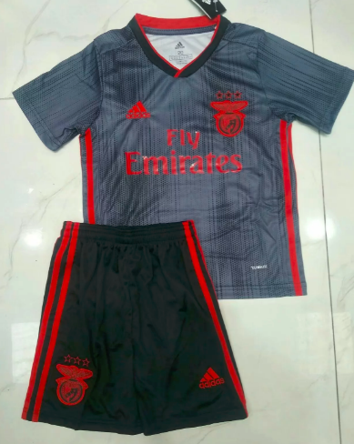 Benfica 19/20 Kids Away Soccer Jersey and Short Kit