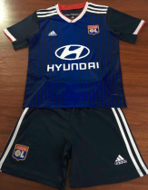 Olympique Lyonnais 19/20 Kids Away Soccer Jersey and Short Kit