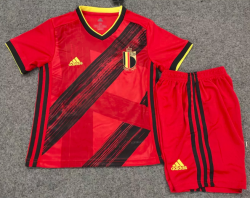 Belgium 2020 Kids Home Soccer Jersey and Short Kit