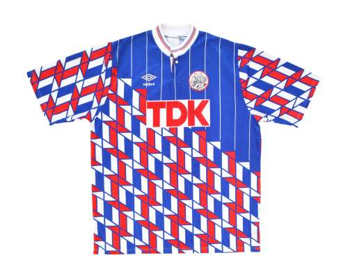 Ajax 1989-90 Away Retro Soccer Jersey