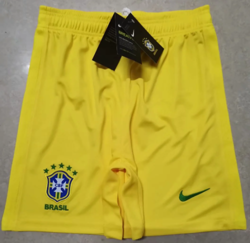 Thai Version Brazil 2020 Home Soccer Shorts