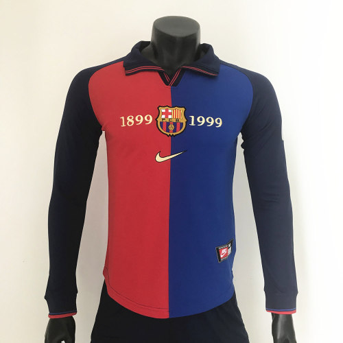 Barcelona 1999/2000 Centenary Home Retro L/S Jerseys