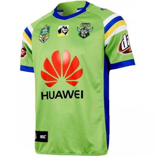Canberra Raiders 2018 Men's Home Rugby Jersey