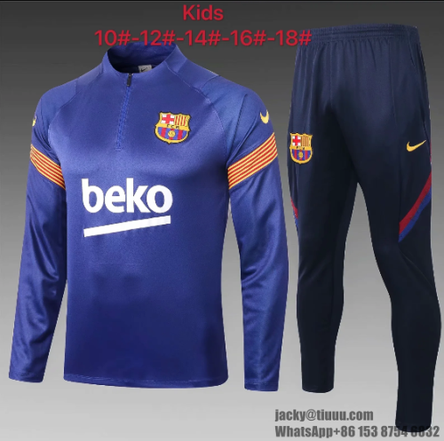Barcelona 20/21 Kids Soccer Top and Pants - E446