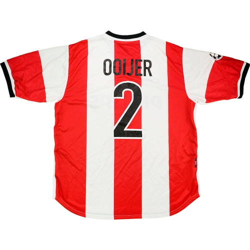 PSV 1998-99 UCL Ooijer Home Retro Jersey