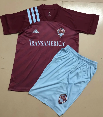 Colorado rapids 19/20 Kids Home Soccer Jersey and Short Kit