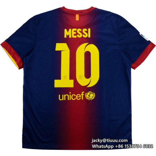 Barcelona 2012-2013 Messi Home Retro Jersey