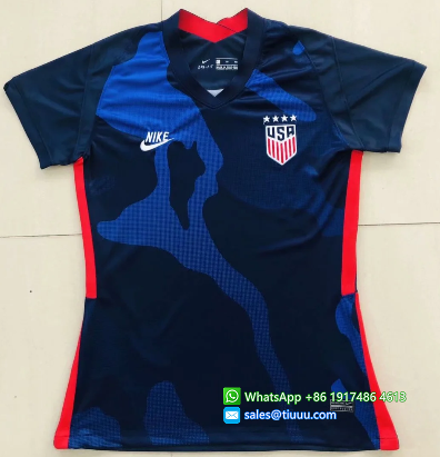 Thai Version USA 2020 Women's Away Soccer Jersey