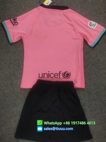 Barcelona 20/21 Kids Away Soccer Jersey and Short Kit