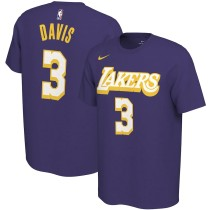Men's Los Angeles Lakers Anthony Davis Purple City Edition Variant Name & Number T-Shirt