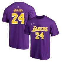 Men's Los Angeles Lakers Kobe Bryant Purple Player Name & Number Performance T-Shirt