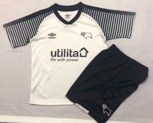 Derby County 19/20 Kids Home Soccer Jersey and Short Kit
