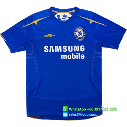 Chelsea 2005/06 Centenary Home Retro Jersey #4 Makelele