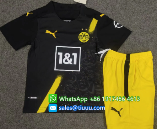 Borussia Dortmund 20/21 Kids Away Soccer Jersey and Short Kit