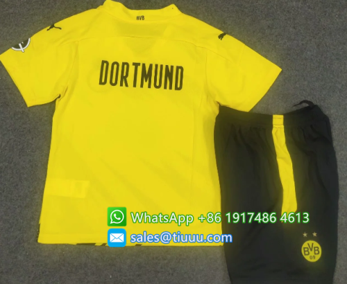 Borussia Dortmund 20/21 Kids Home Soccer Jersey and Short Kit